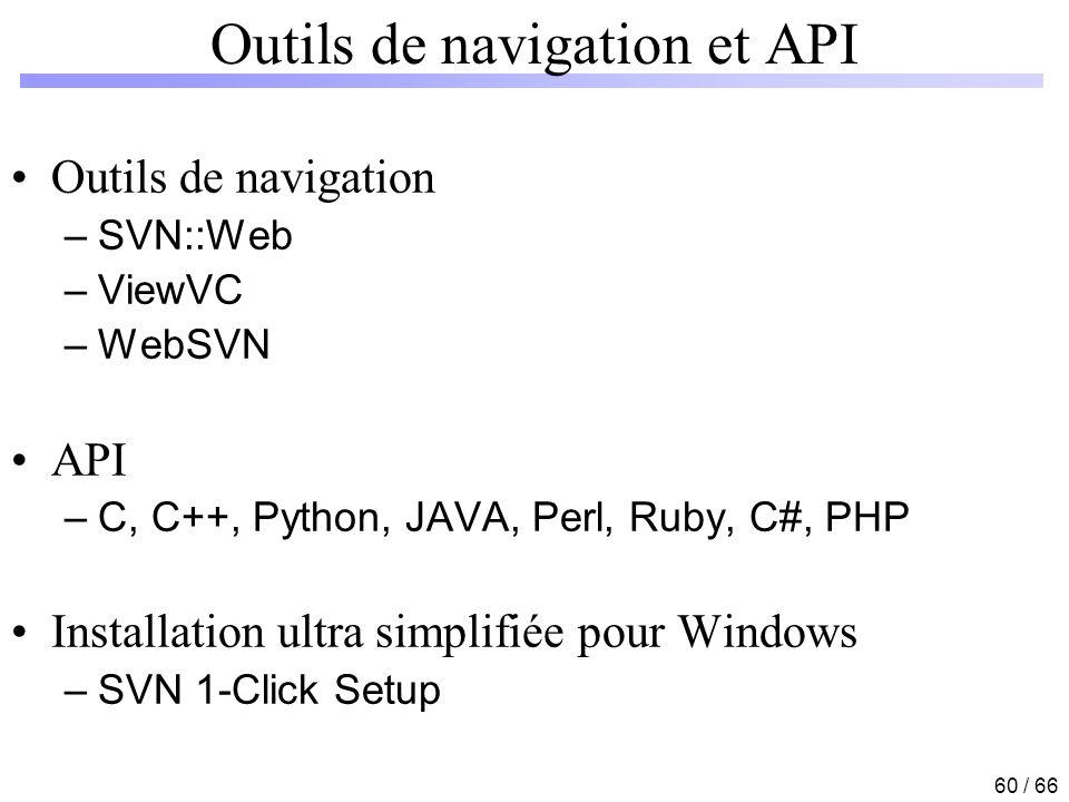 Outils de navigation et API