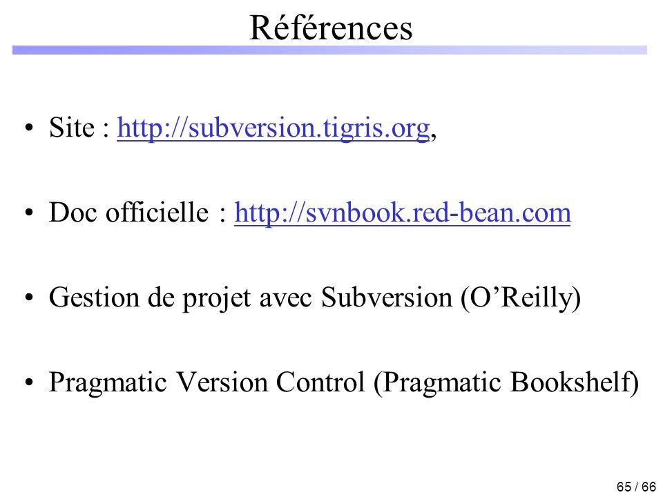 Références Site : http://subversion.tigris.org,