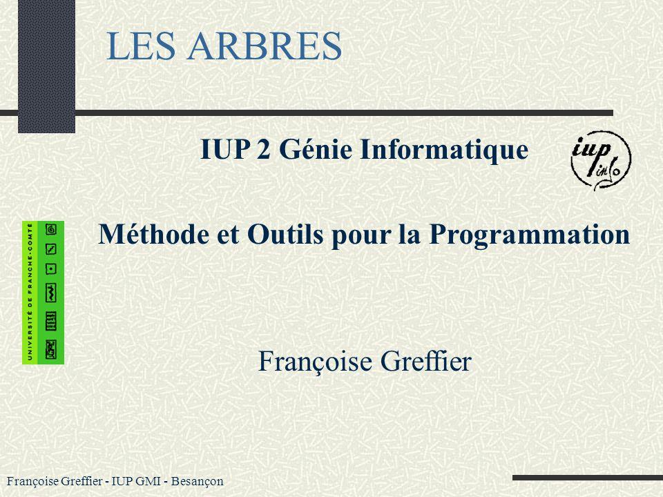 LES ARBRES IUP 2 Génie Informatique