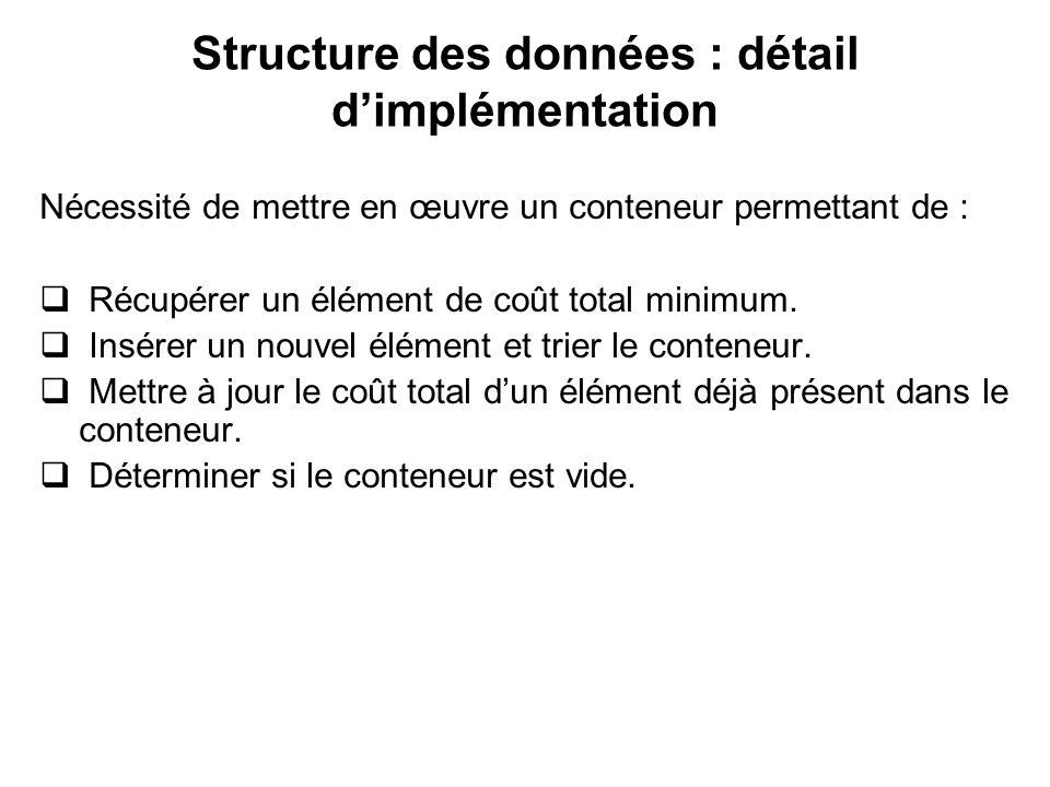 Structure des données : détail d'implémentation
