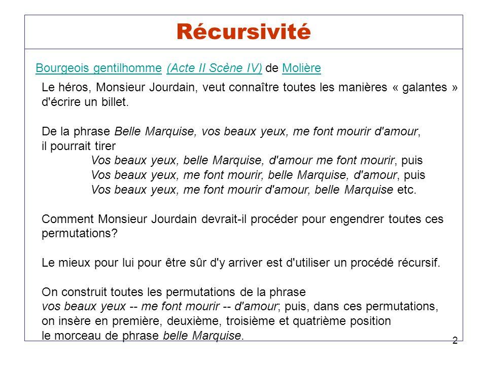 Bourgeois gentilhomme (Acte II Scène IV) de Molière