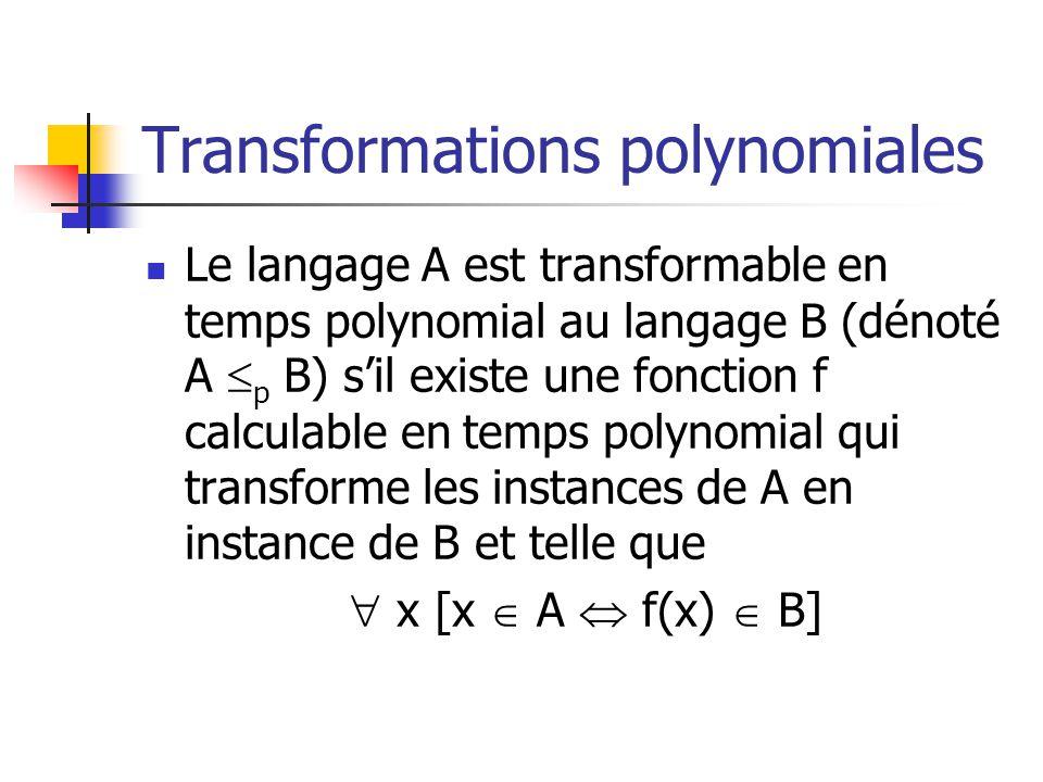 Transformations polynomiales