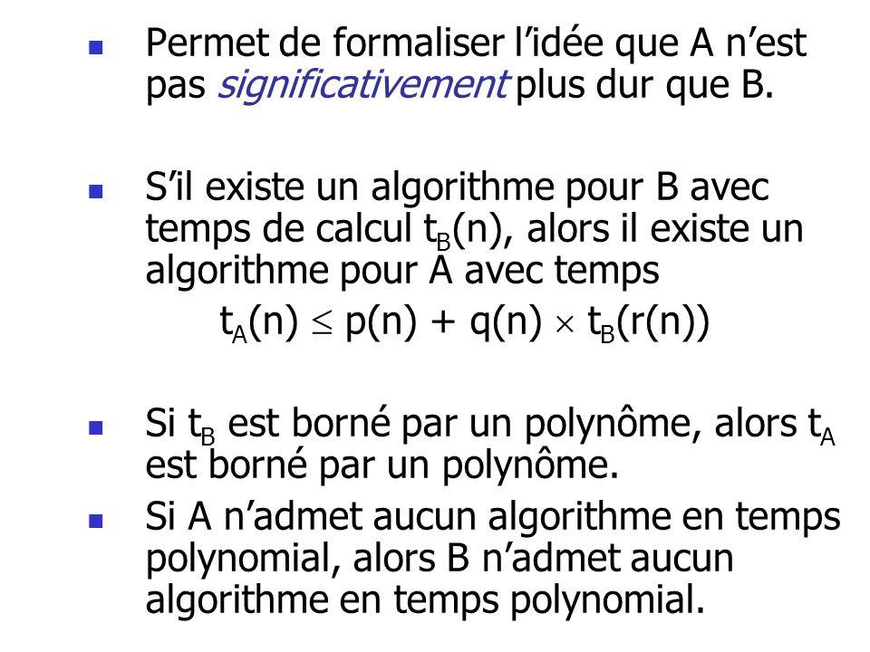 tA(n)  p(n) + q(n)  tB(r(n))