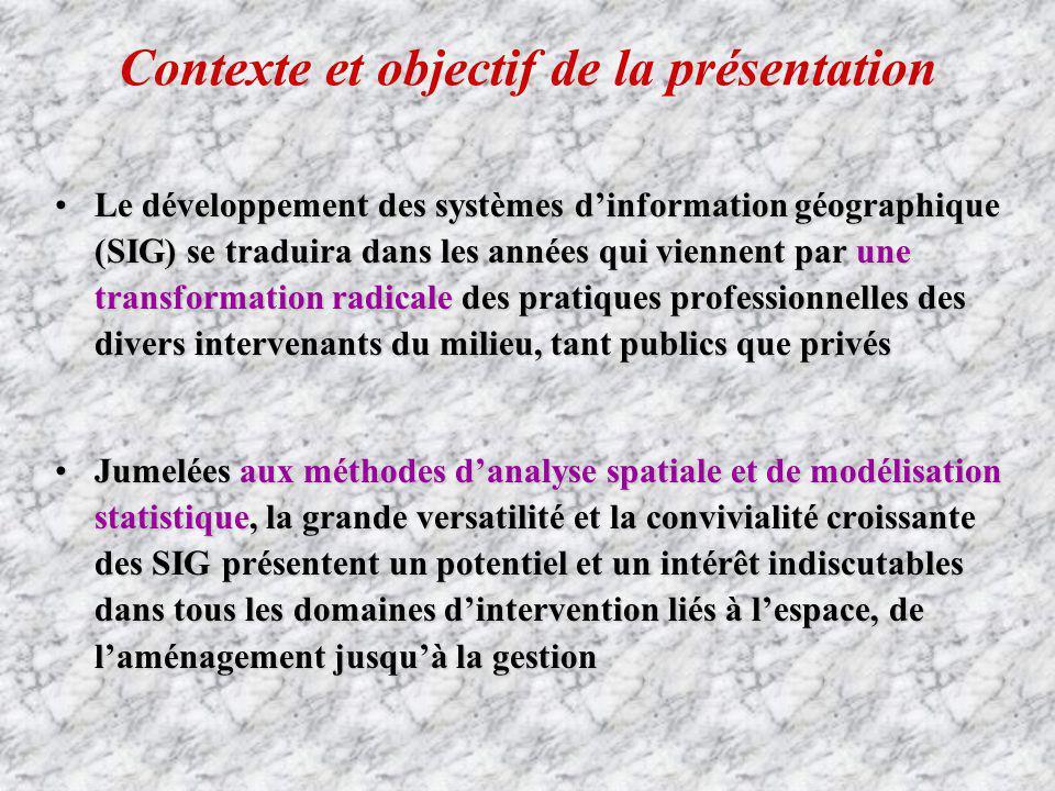 Contexte et objectif de la présentation
