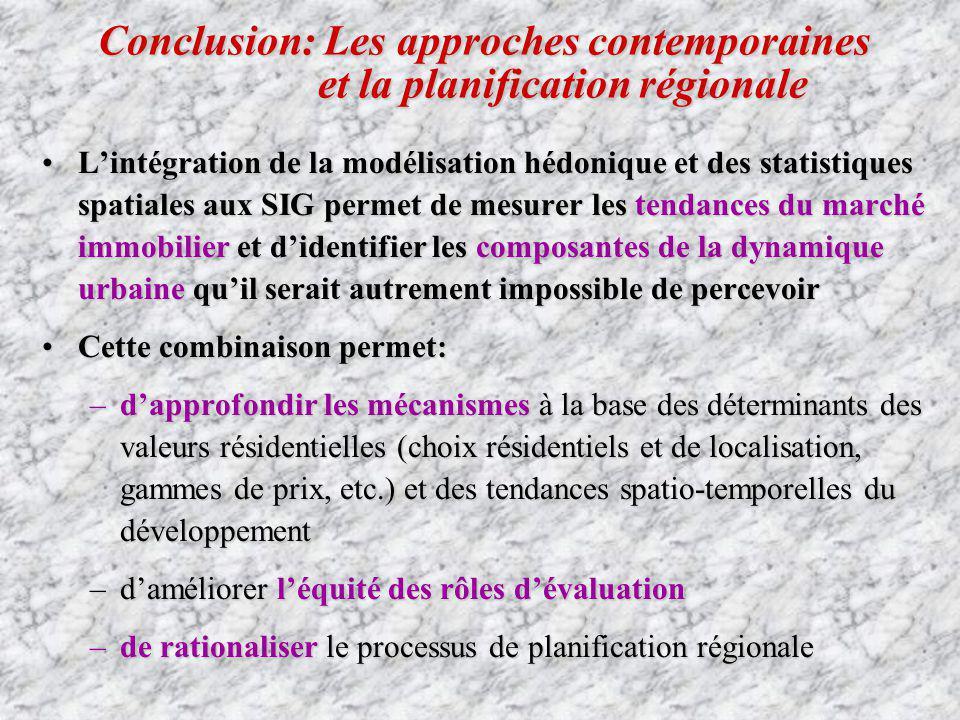 Conclusion: Les approches contemporaines et la planification régionale