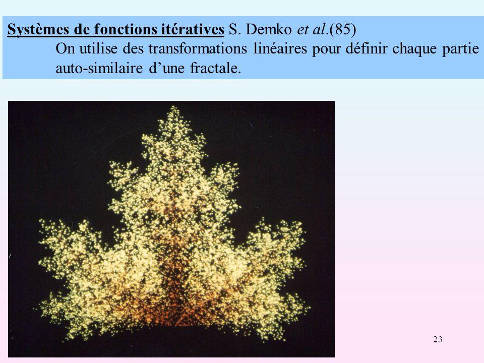 Systèmes de fonctions itératives S. Demko et al.(85)