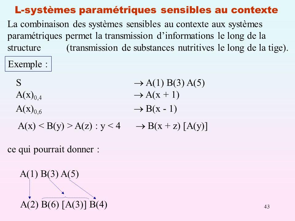 L-systèmes paramétriques sensibles au contexte