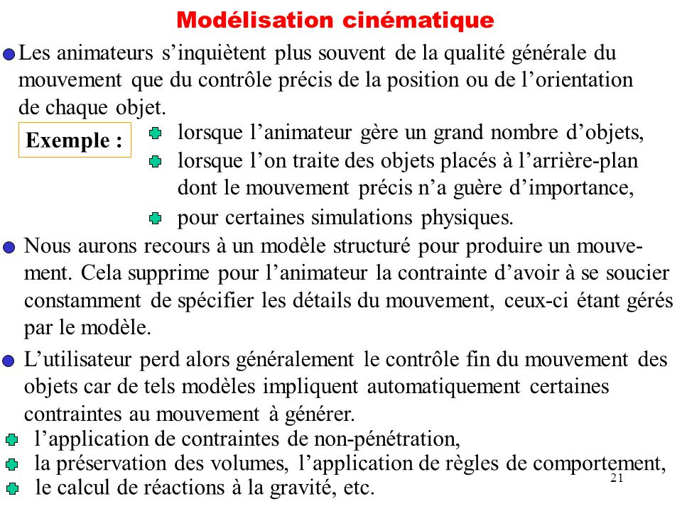 Modélisation cinématique
