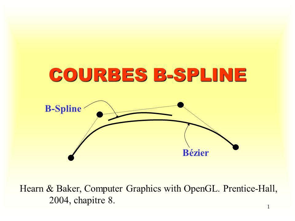 COURBES B-SPLINE B-Spline Bézier