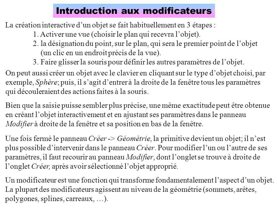 Introduction aux modificateurs