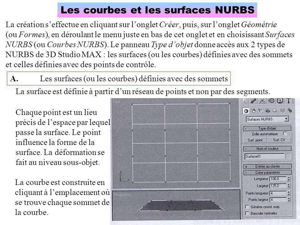 Les courbes et les surfaces NURBS