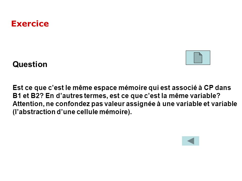 Exercice Question.