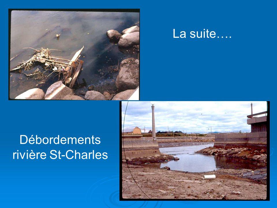 La suite…. Débordements rivière St-Charles