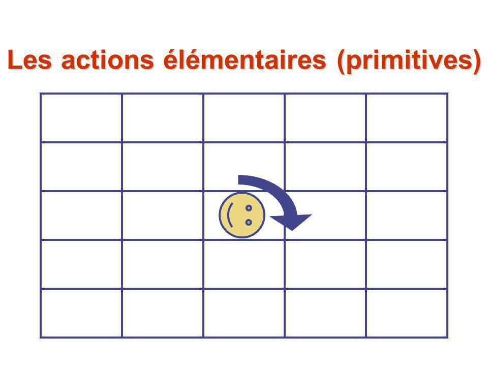 Les actions élémentaires (primitives)