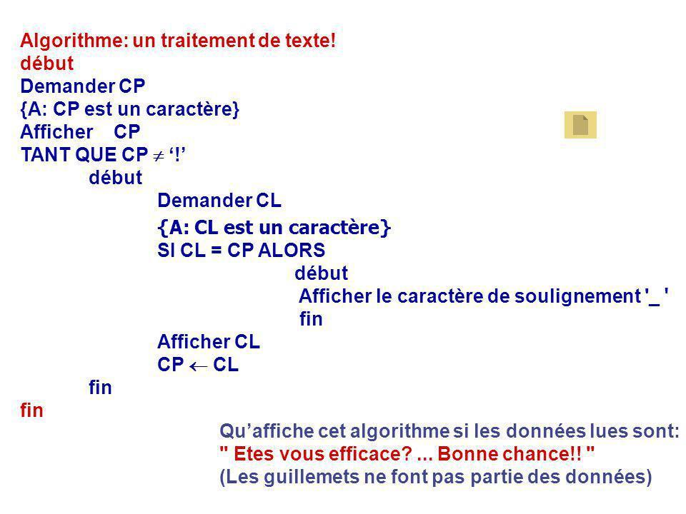 {A: CL est un caractère}