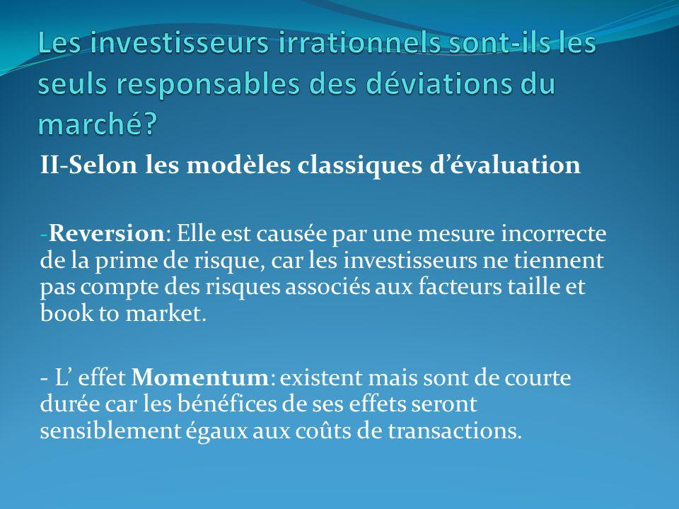 Les investisseurs irrationnels sont-ils les seuls responsables des déviations du marché