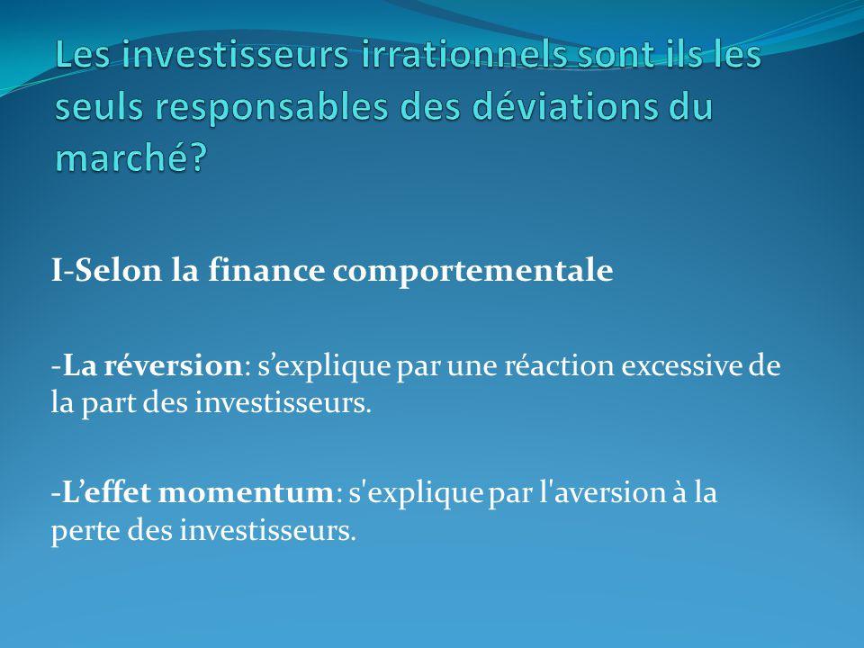 Les investisseurs irrationnels sont ils les seuls responsables des déviations du marché