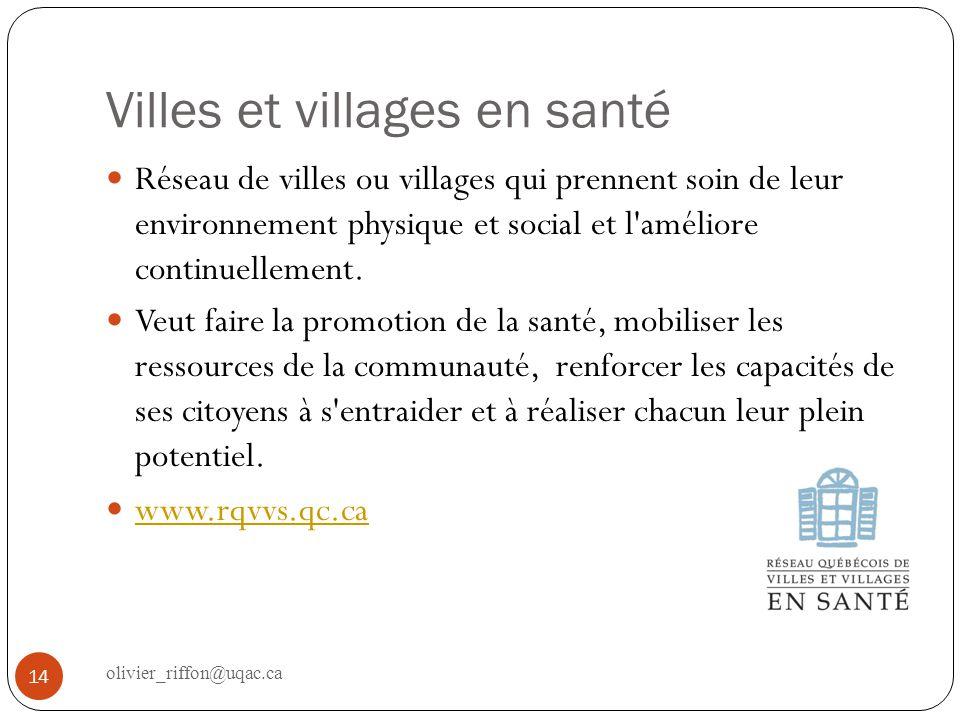 Villes et villages en santé