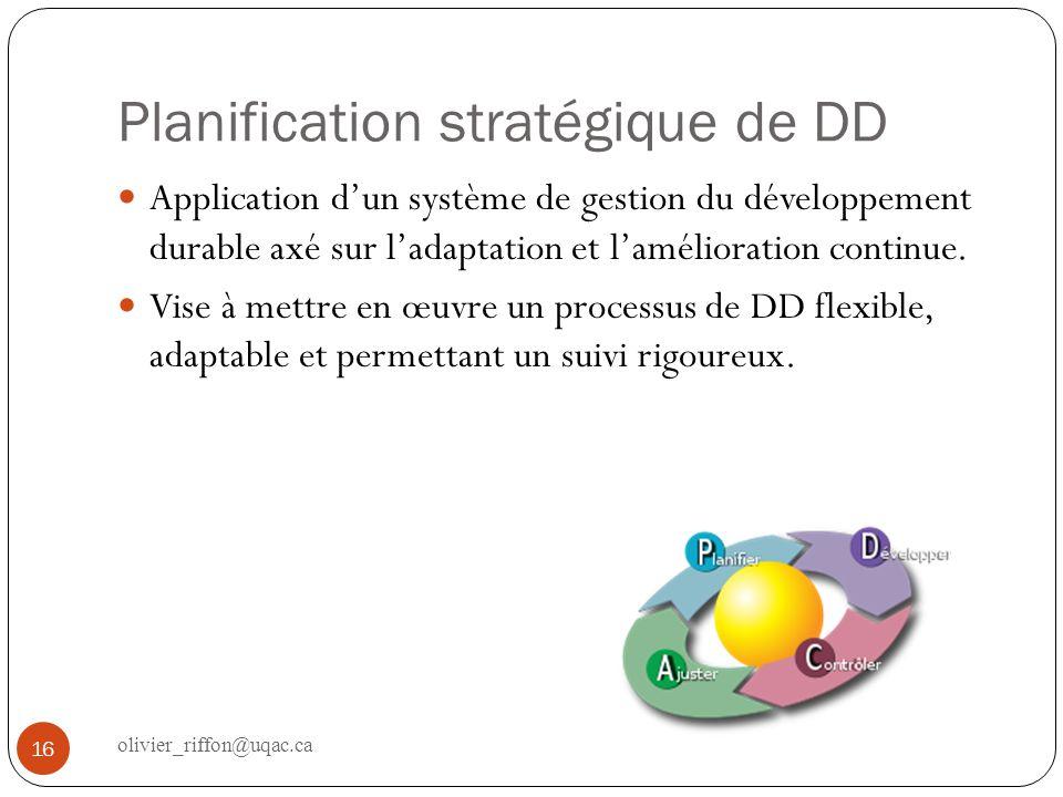 Planification stratégique de DD
