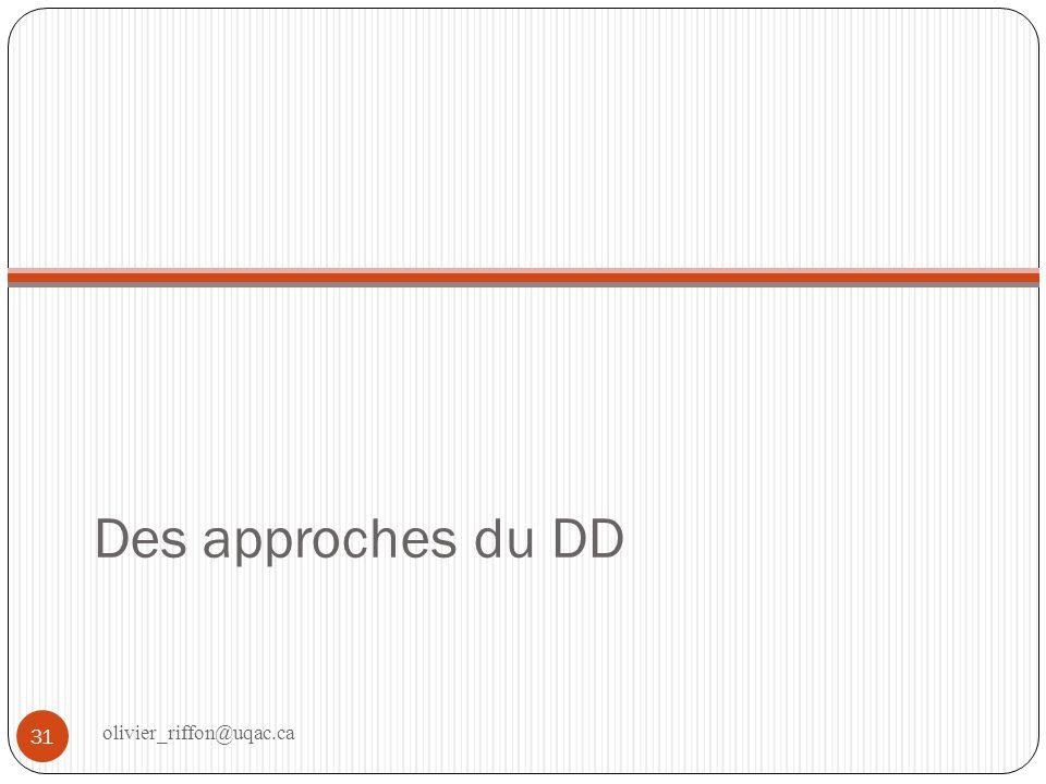 Des approches du DD olivier_riffon@uqac.ca