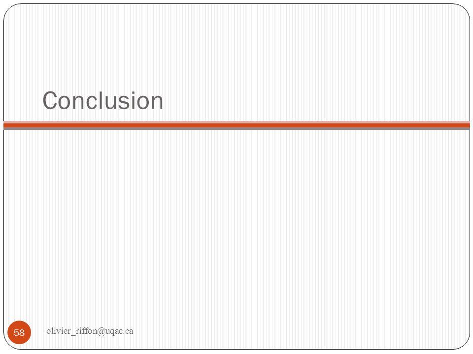 Conclusion olivier_riffon@uqac.ca
