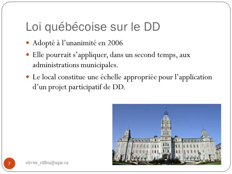 Loi québécoise sur le DD