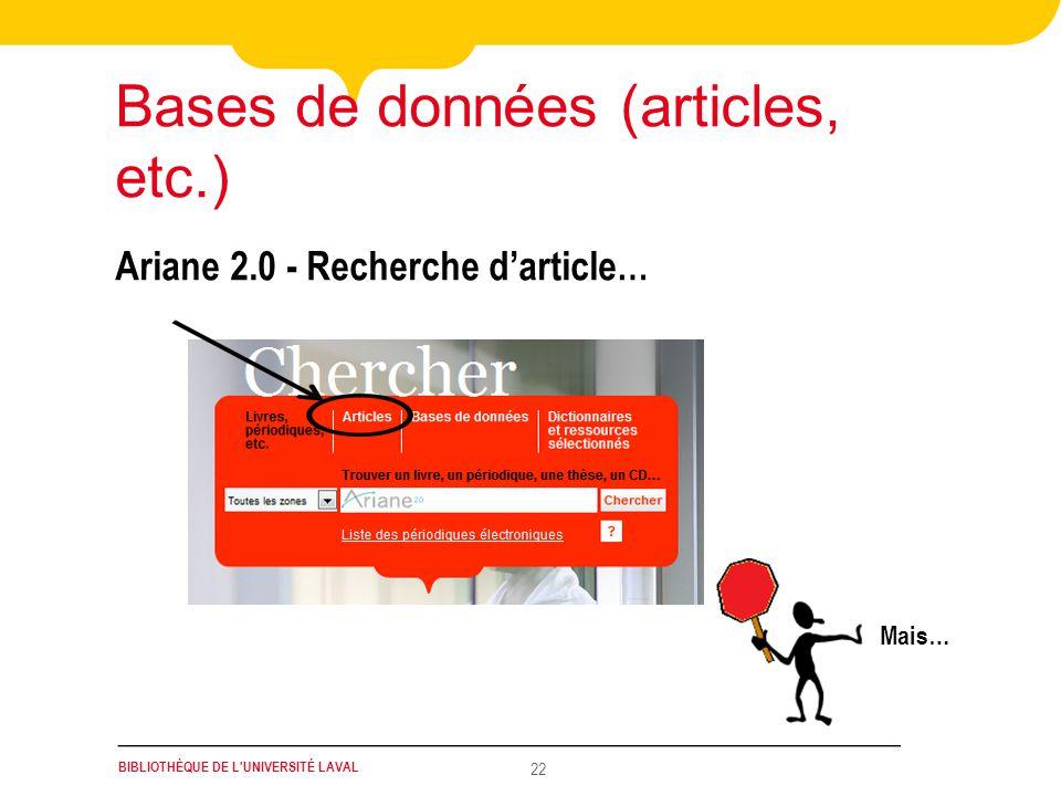 Bases de données (articles, etc.)