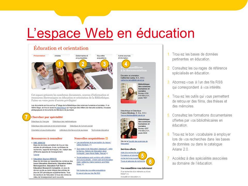 L'espace Web en éducation