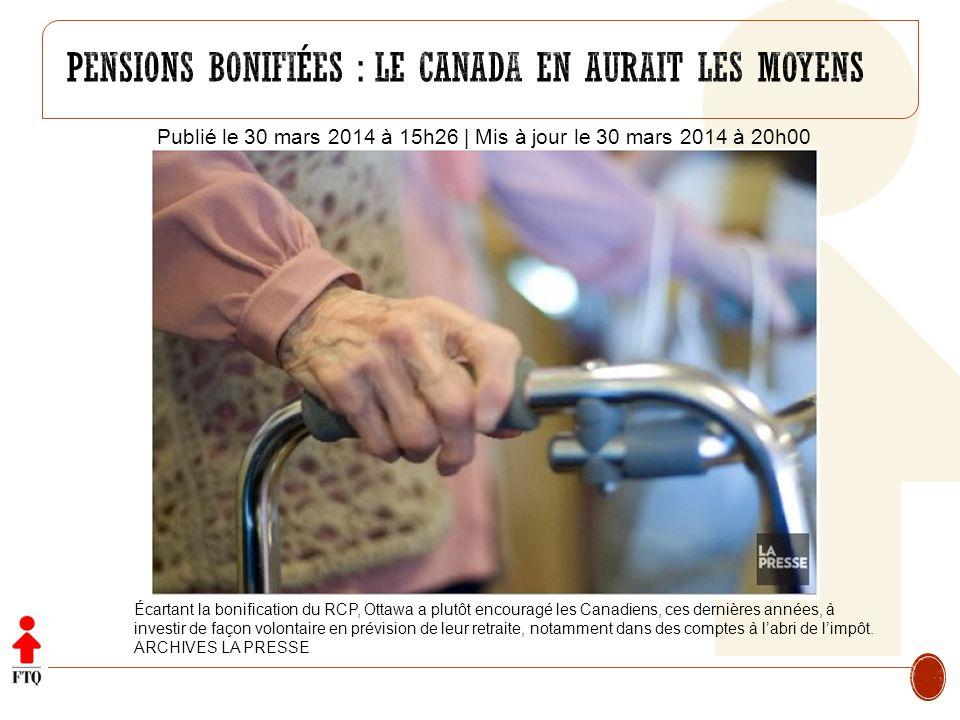 Pensions bonifiées : le canada en aurait les moyens