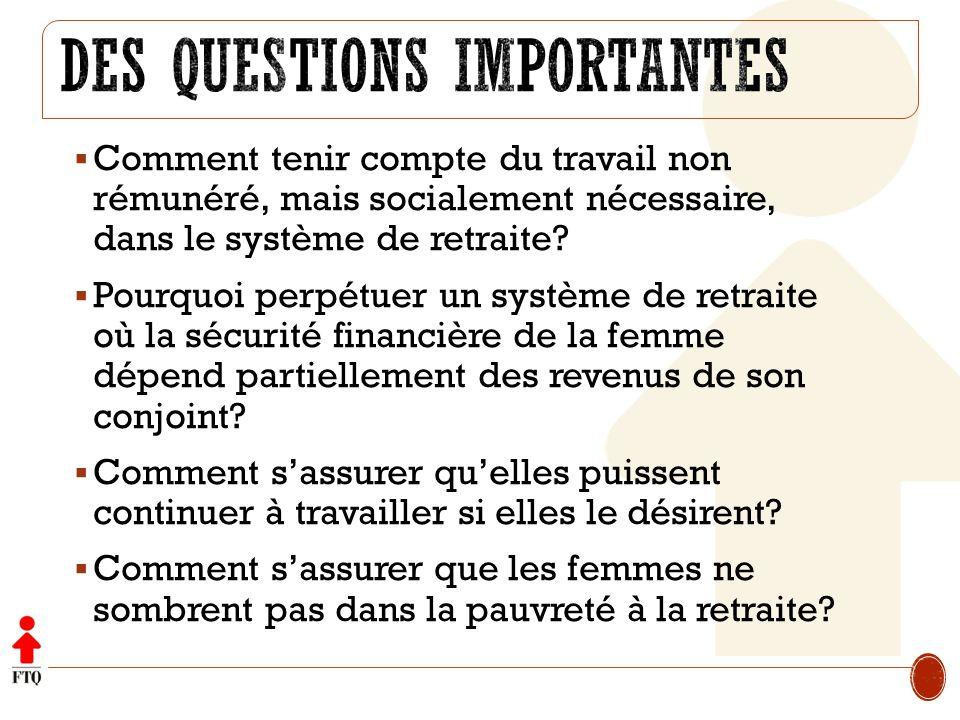 Des questions importantes