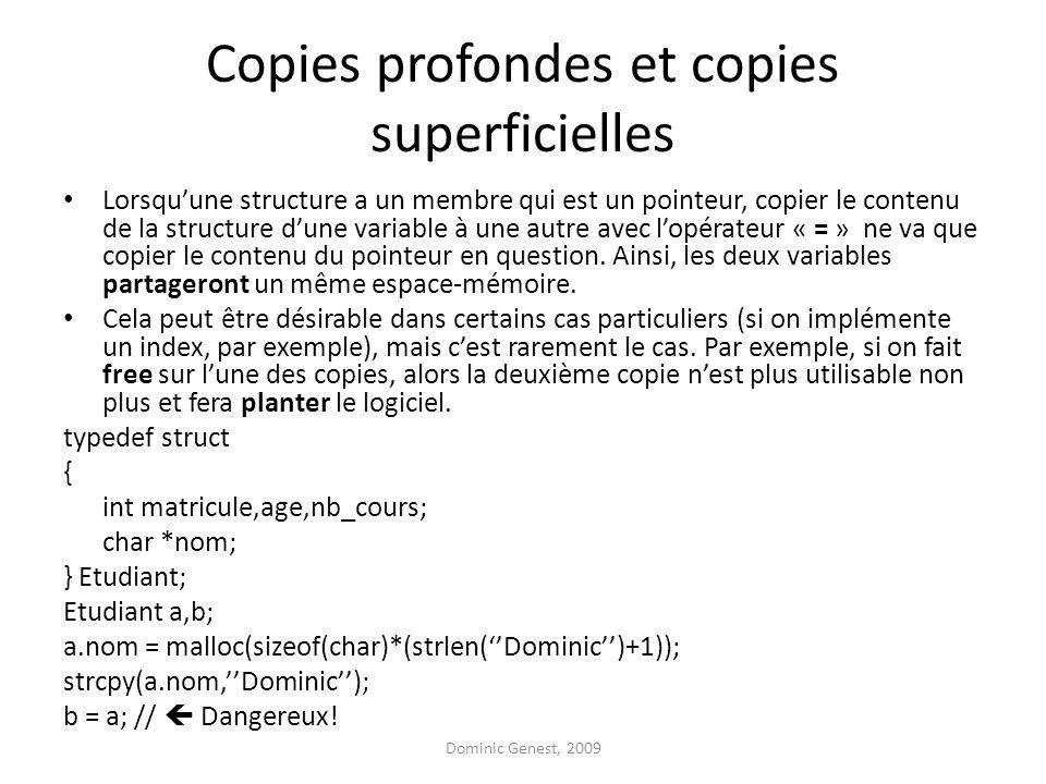 Copies profondes et copies superficielles