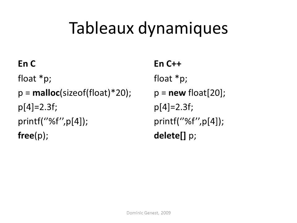 Tableaux dynamiques En C En C++