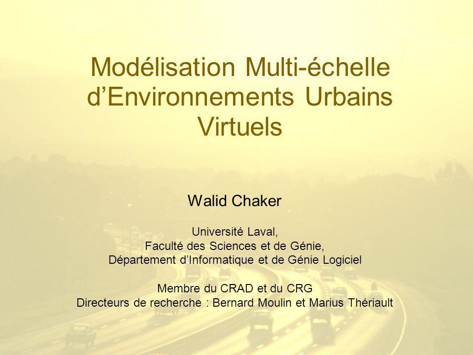 Modélisation Multi-échelle d'Environnements Urbains Virtuels