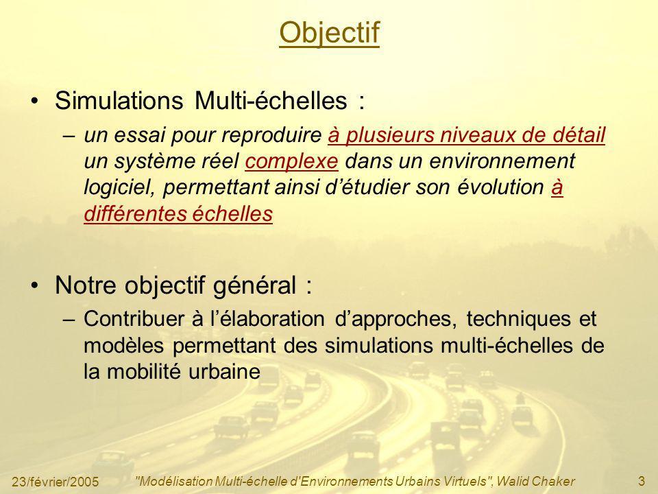 Objectif Simulations Multi-échelles : Notre objectif général :
