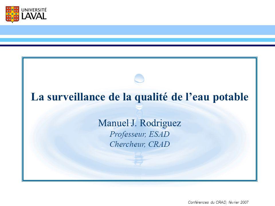 La surveillance de la qualité de l'eau potable