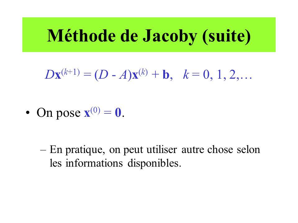 Méthode de Jacoby (suite)