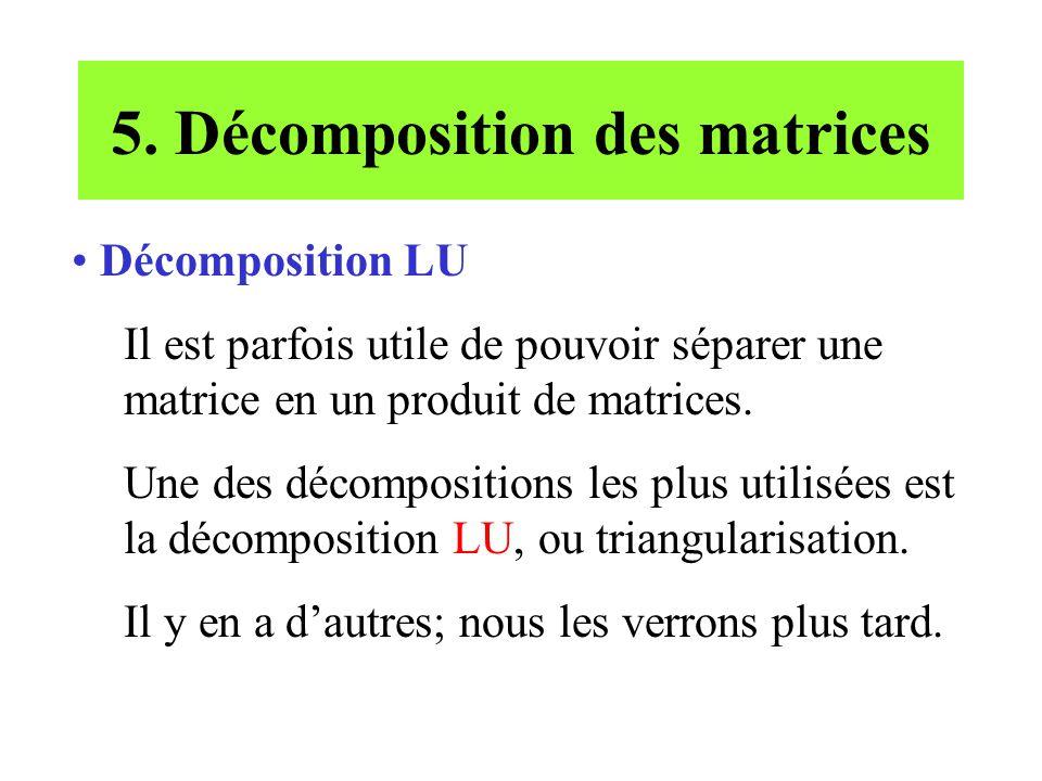 5. Décomposition des matrices