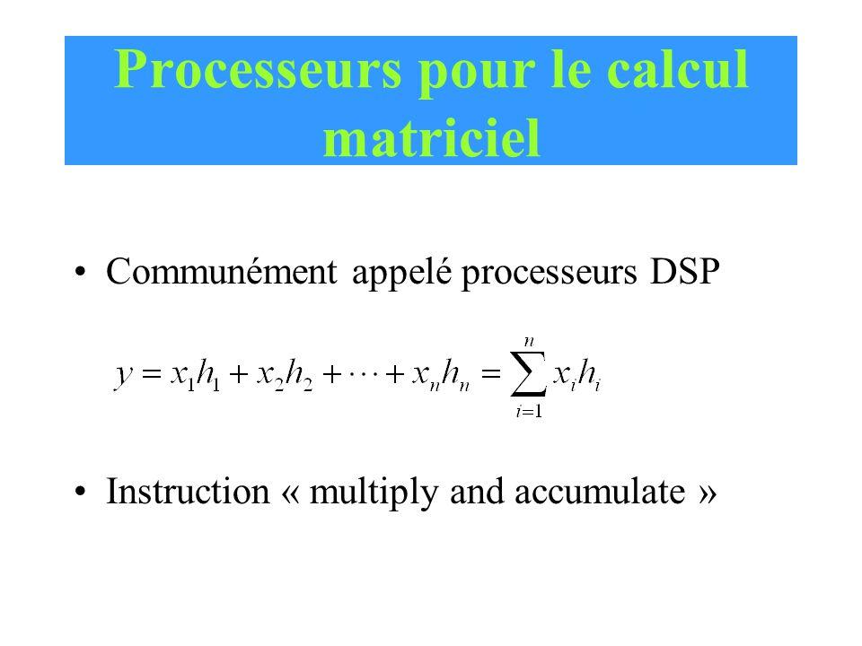Processeurs pour le calcul matriciel
