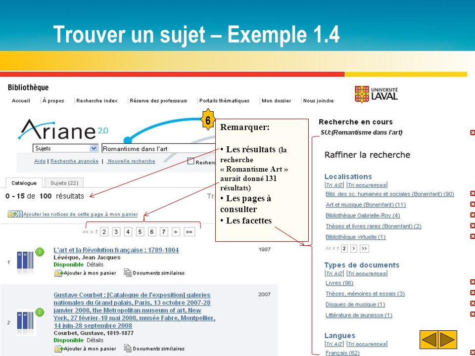 Trouver un sujet – Exemple 1.4