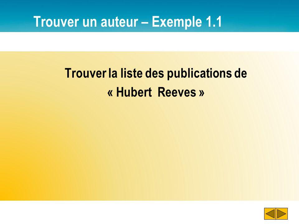 Trouver un auteur – Exemple 1.1