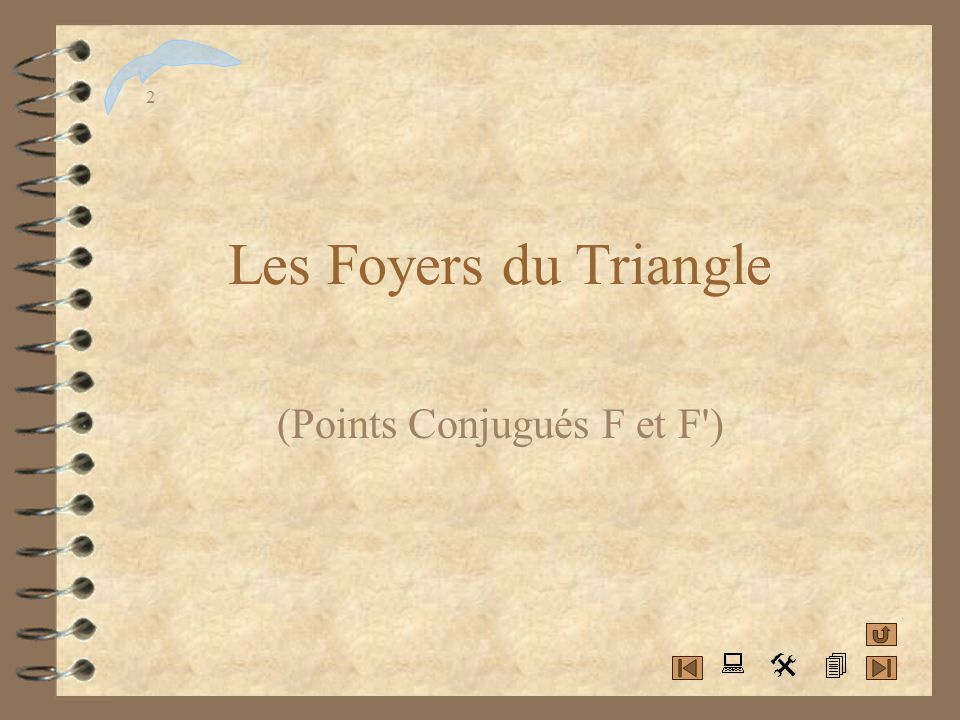 (Points Conjugués F et F )