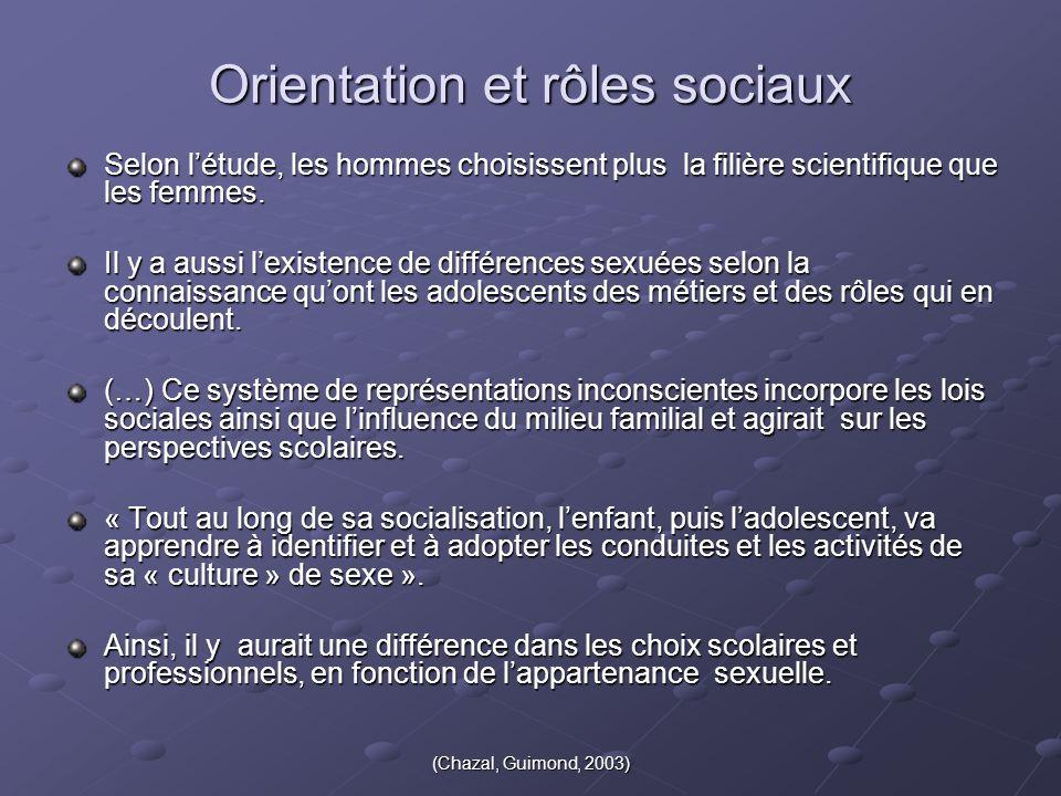 Orientation et rôles sociaux