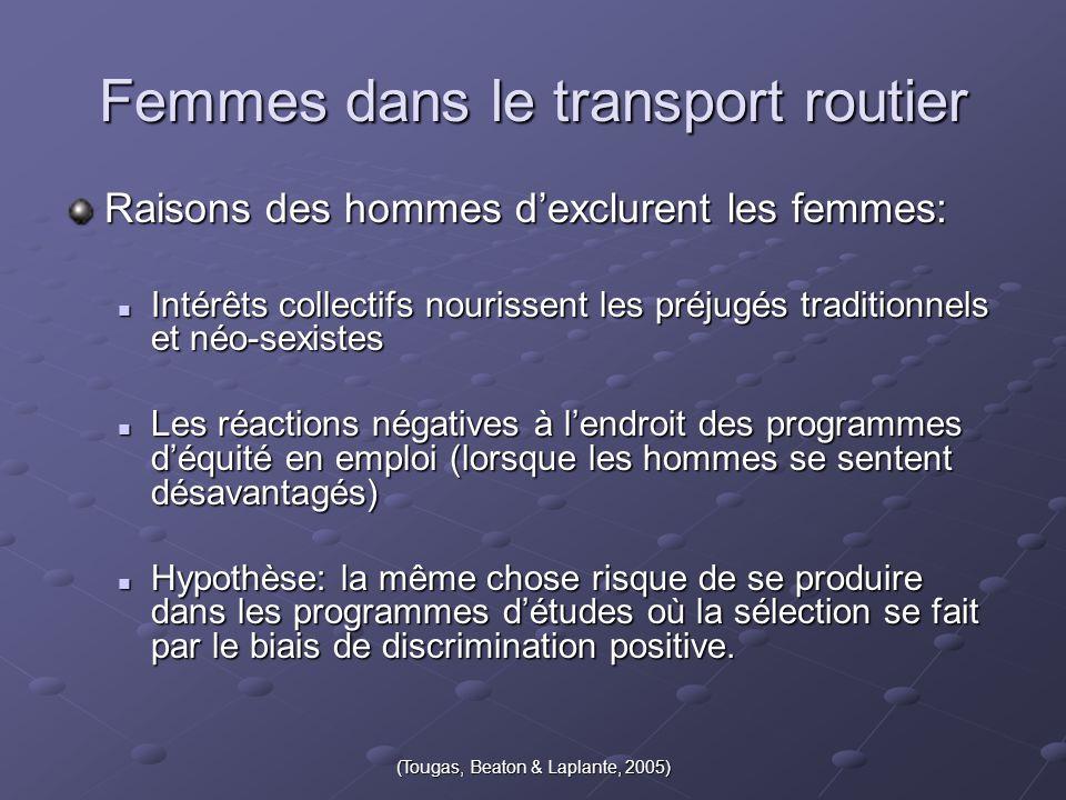 Femmes dans le transport routier