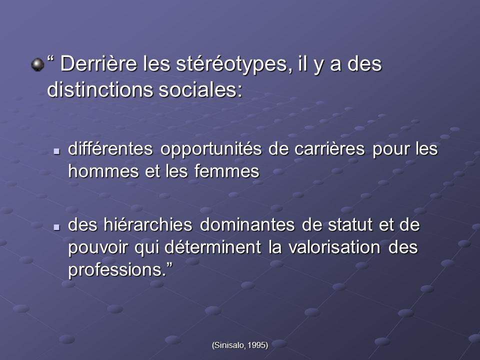 Derrière les stéréotypes, il y a des distinctions sociales: