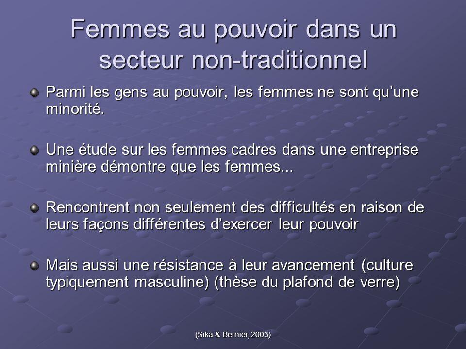 Femmes au pouvoir dans un secteur non-traditionnel