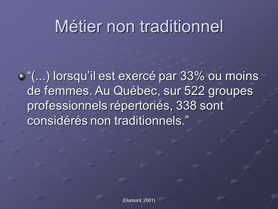 Métier non traditionnel