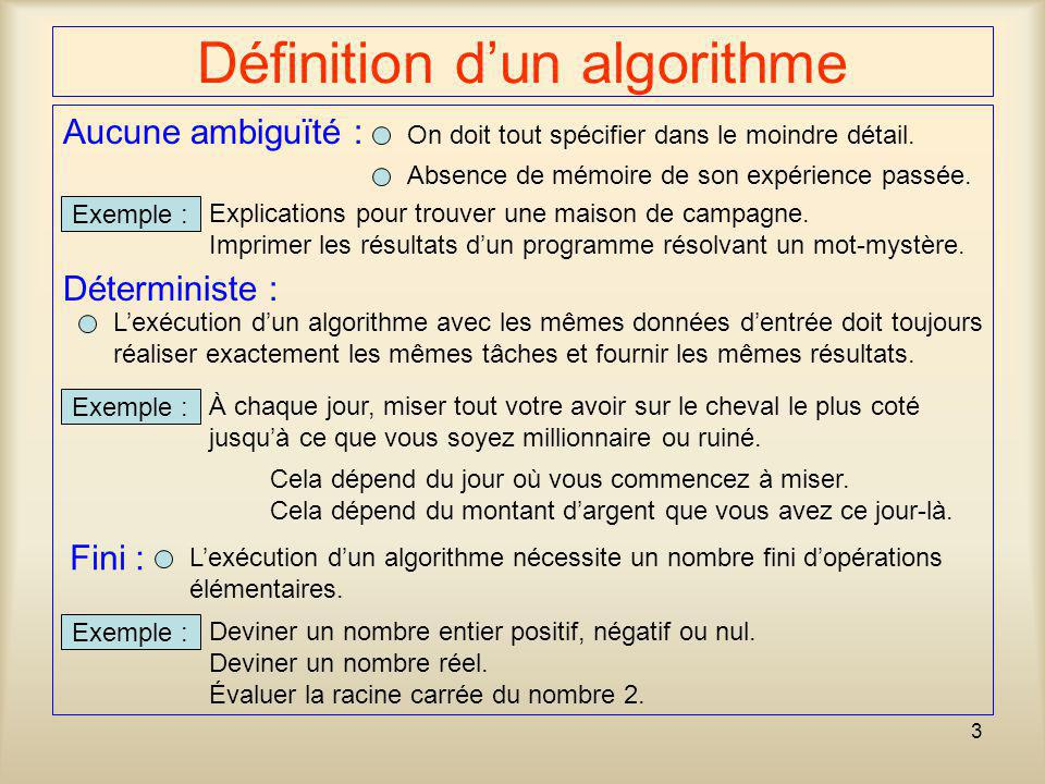 Définition d'un algorithme