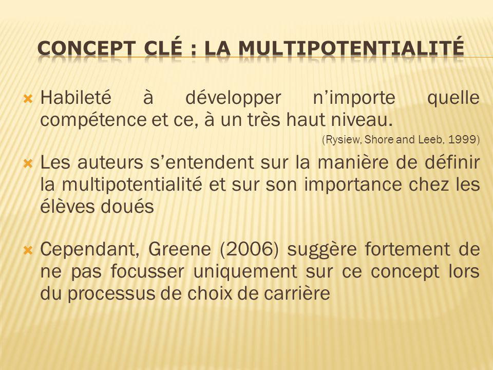 Concept clé : la Multipotentialité