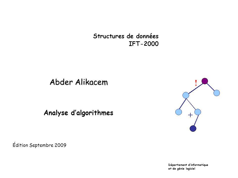Analyse d'algorithmes