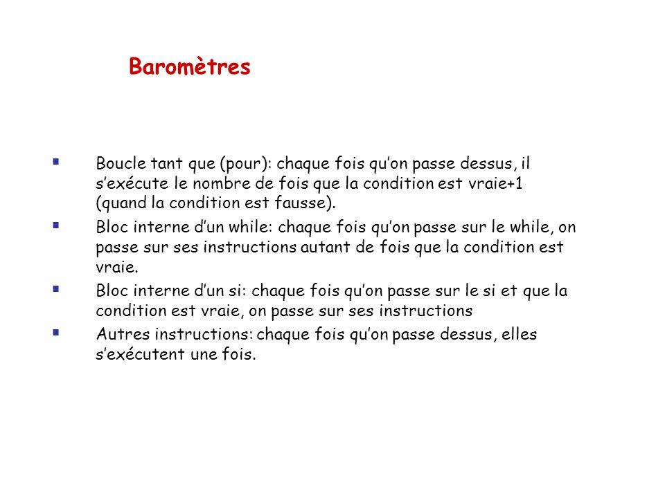Baromètres